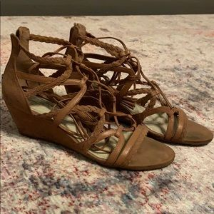 Tan lace-up BCBGeneration sandals